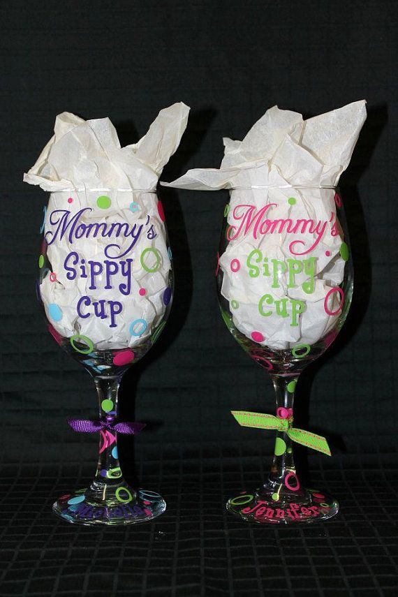 103 best wine glasses images on pinterest wine glasses for Holiday wine glass crafts
