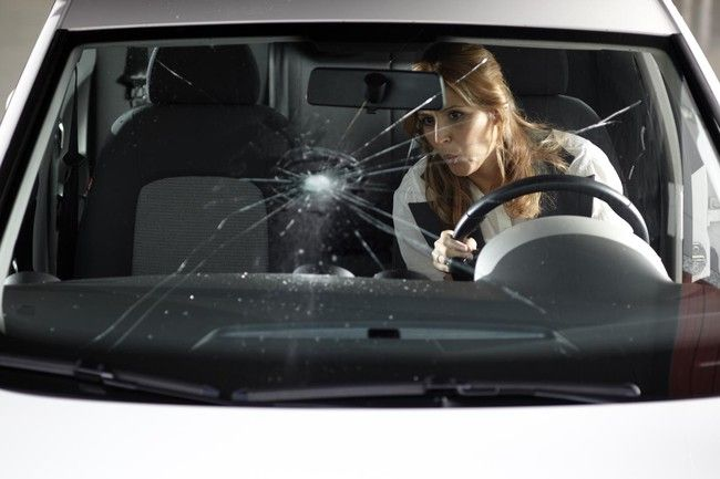 An impact or crack in the windshield lowers your resistance 70 %, which is why every day I let it pass without fix it or change it you're putting yourself in danger.