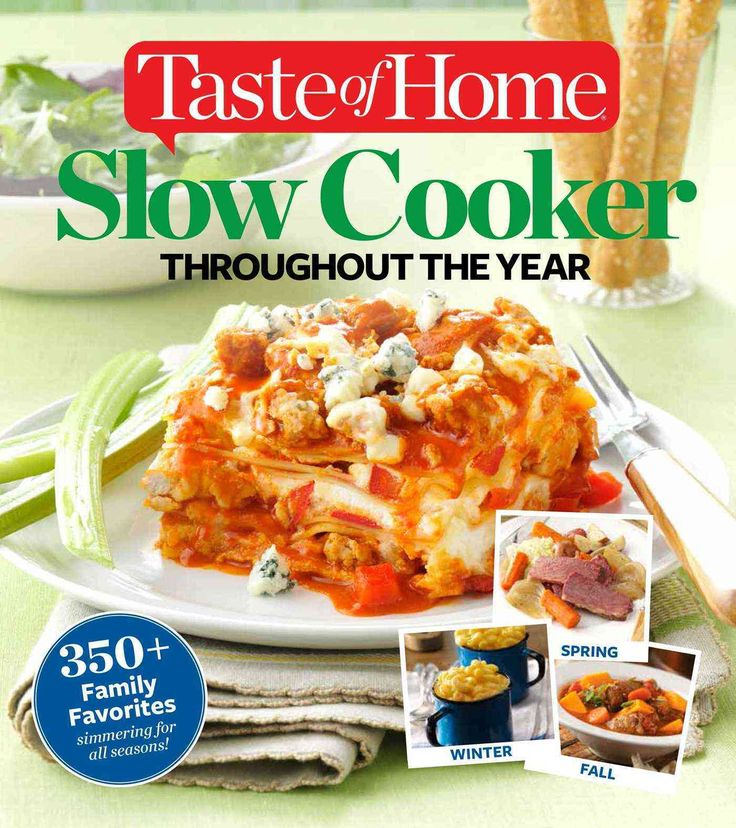 Its finally herea slow-cooker cookbook thats ideal for every season! Taste of Home Slow Cooker Throughout the Year features 457 mouthwatering recipes, divided into four sectionsone for each season. No