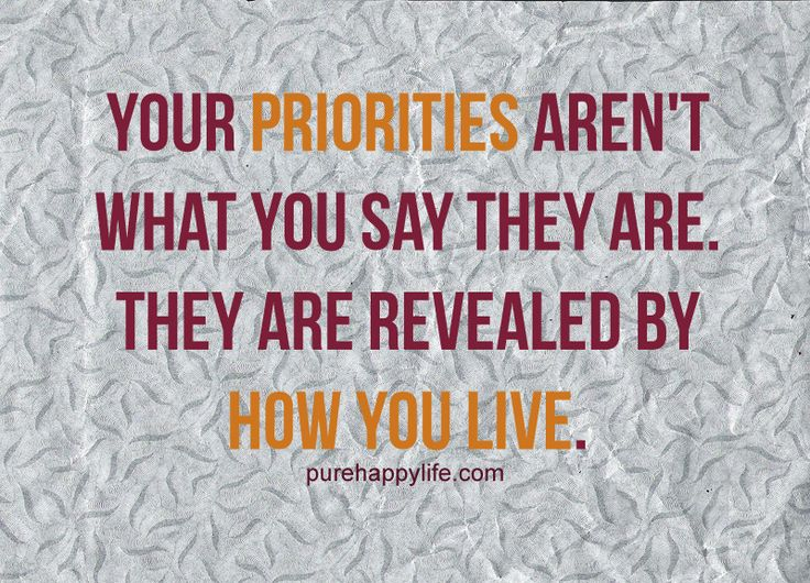 quotes about priorities | Priorities Quote: Your priorities aren't what you say they are…