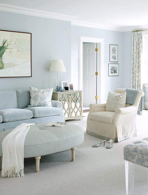 Clean Looking, My New Entry Hall Colour Perhaps? Kitchen Maybe... Blue  Living RoomsBlue RoomsLiving SpacesLiving Room ColorsWhite ...