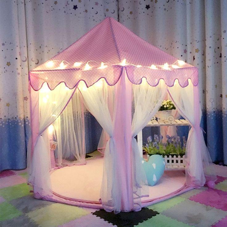 Schöne Mädchen Rosa Prinzessin Schloss Nette Spielhaus Kinder Kinder Spielen Zelt Outdoor-spielzeug Zelt Für Kinder Kinder