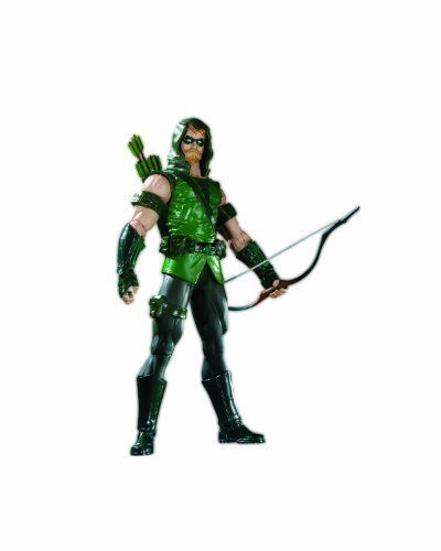 """DC Direct Brightest Day Series 1: Green Arrow Action Figure by DC Direct. $29.95. Character-appropriate accessories included. Each figure features multiple points of articulation and  a display base. Choose from Aquaman (6.75"""" H), Green Arrow (6.75"""" H), Hawkgirl (6.5"""" H),  and  Deadman (6.75"""" H). Based on DC Comics' epic Brightest Day event that brings the next exciting era of the DC Universe. 4-color clamshell blister card packaging. From Blackest Night to Brightest Day. ..."""