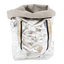 Green Horse - Metallic Silver Carry Bag