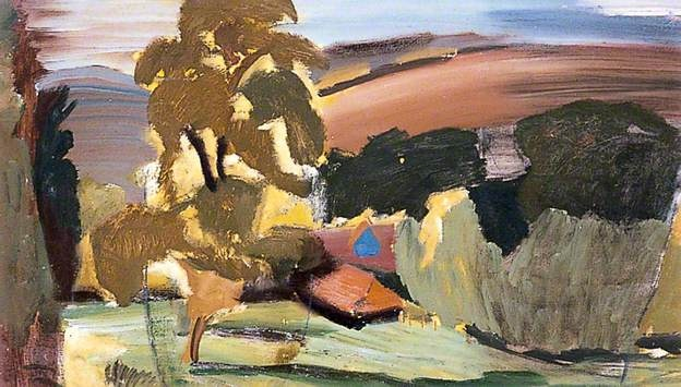 Downland Farm near Heyshott, West Sussex by Ivon Hitchens