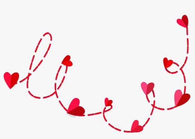 أحمر قلب خط متقطع Red Heart Heart Shapes Instagram Highlight Icons