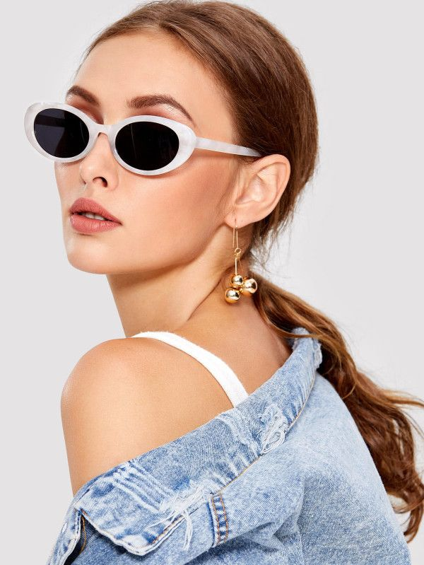 ba055ec34f Two Tone Cat Eye Sunglasses -SheIn(Sheinside)