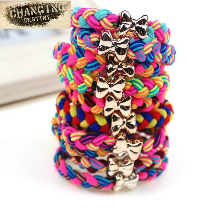 10 Pcs Lot Women Ultra Elastic Headband Hairband Ladies Braided Scrunchie Hair Rope Rubber Band Girls Bow Hair Accessories by zdzdbuy Item specifics Brand Name: Changing Destiny Gender: Women Material: Nylon Spandex Department Name: Adult Style: Novelty Type: Elastic Hair Bands Pattern Type: Patchwork Model Number: 133311 Item Type: Headwear