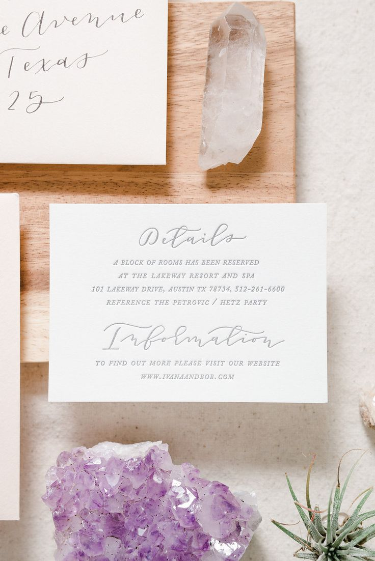 Custom blush and grey, romantic and modern Texas inspired wedding invitation suite / calligraphy and hand lettering, gold foil and letterpress by Paper & Honey®️️️️/ www.paperandhoney.com / heirloom quality wedding stationery suites serving Detroit, Ann Arbor, Grand Rapids Michigan and worldwide (photo by Andrea Pesce Photography)