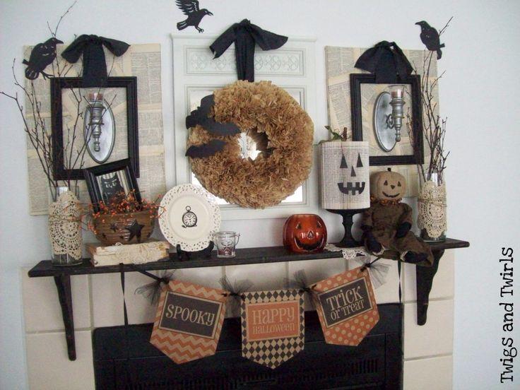 halloween mantel - Rustic Halloween Decorations