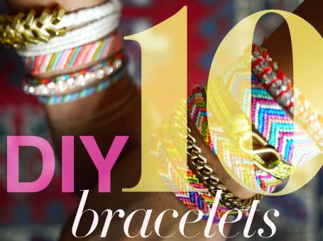 10 DIY bracelets to make yourself: 10 Diy, Diy'S, Diy Bracelets, Bracelets Bring, Craft Ideas, Bracelets Yo, Bracelet Ideas