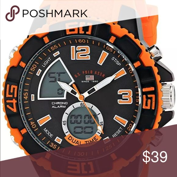 ORANGE MENS BOYS SPORT POLO WATCH BRAND NEW BOX!! VIBRANT ORANGE POLO SPORTS WATCH BRAND NEW AND COMES WITH ALL YOU NEED IN A WATCH - SUPER NICE EASY COMFORT BANDS - BRAND NEW IN BOX !! Polo by Ralph Lauren Other