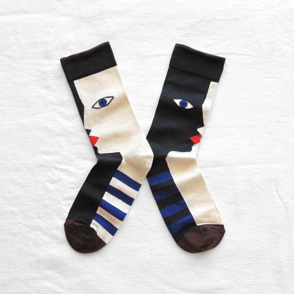 Bonne Maison socks made in France heads