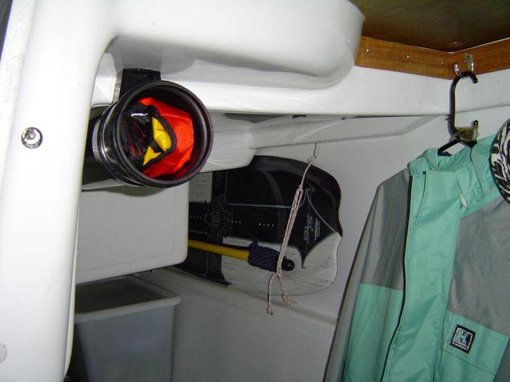 The Macgregor 26x Yacht U0027Restlessu0027 Mods Life Jacket Storage | Sailing |  Pinterest | Cruises
