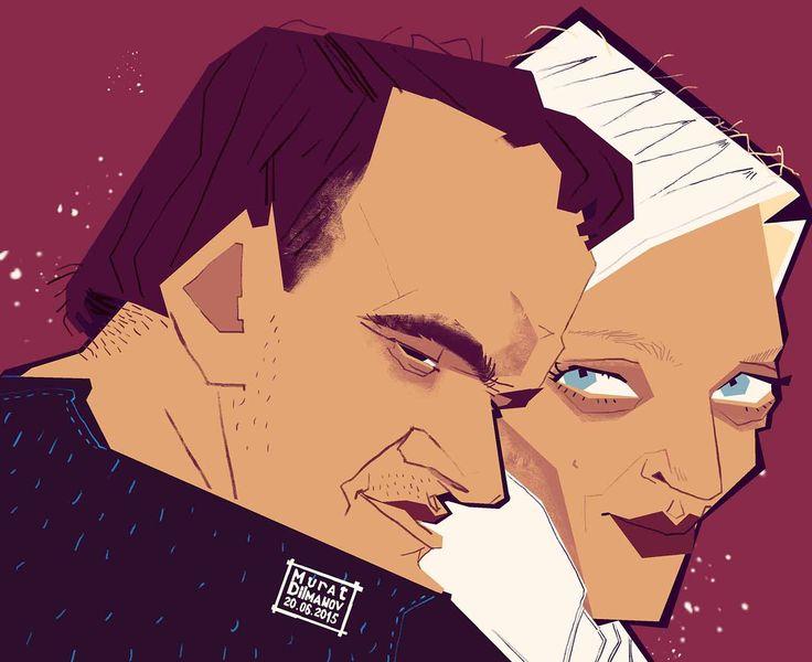 Quentin & Uma #Quentin_Tarantino #Uma_Thurman #Квентин_Тарантино #Ума_Турман