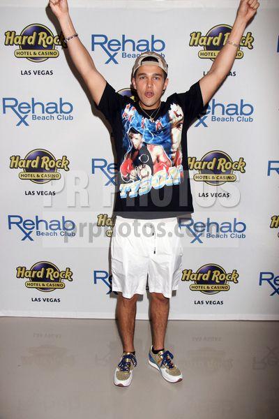 Austin Mahone's 21st Birthday Celebration at Rehab Beach Club in Las Vegas on April 8 2017