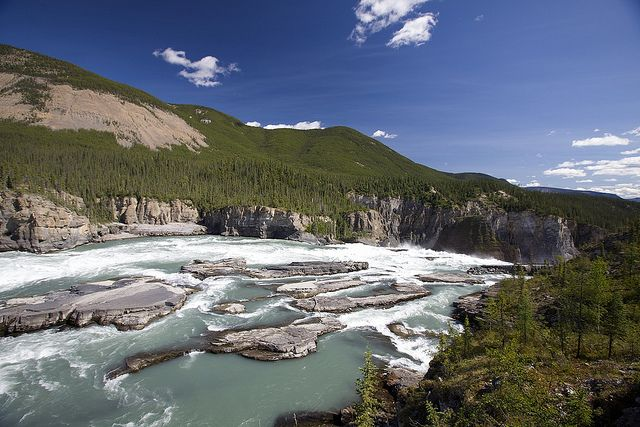 Nahanni National Park Reserve is located in Canada's Northwest Territories, and protects a portion of the Mackenzie Mountains Natural Region.