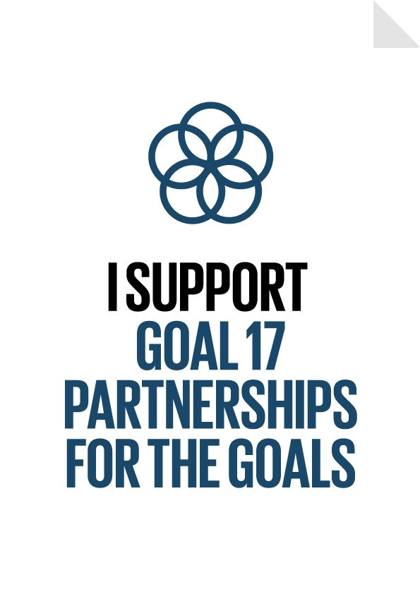 """Goal 17 - Partnerships for the Goals Poster - Strengthen the means of implementation and revitalize the global partnership for sustainable development. """"We were born to unite with our fellow men and join in community with the whole human race."""" - Cicero"""