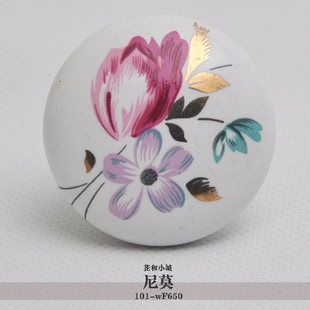 10pcs lot free shipping European contemporary and contracted painted porcelain  drawer cabinet wardrobe door knob 101-WF650