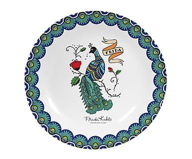 Plato decorativo Peacock, multicolor - Ø25,5 cm