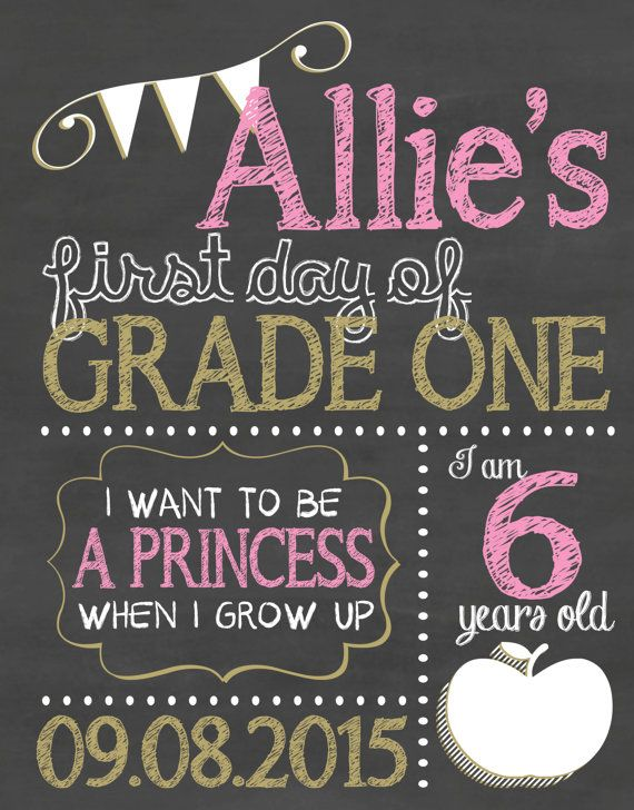 Check out this item in my Etsy shop https://www.etsy.com/ca/listing/243820817/first-day-of-school-sign-chalkboard