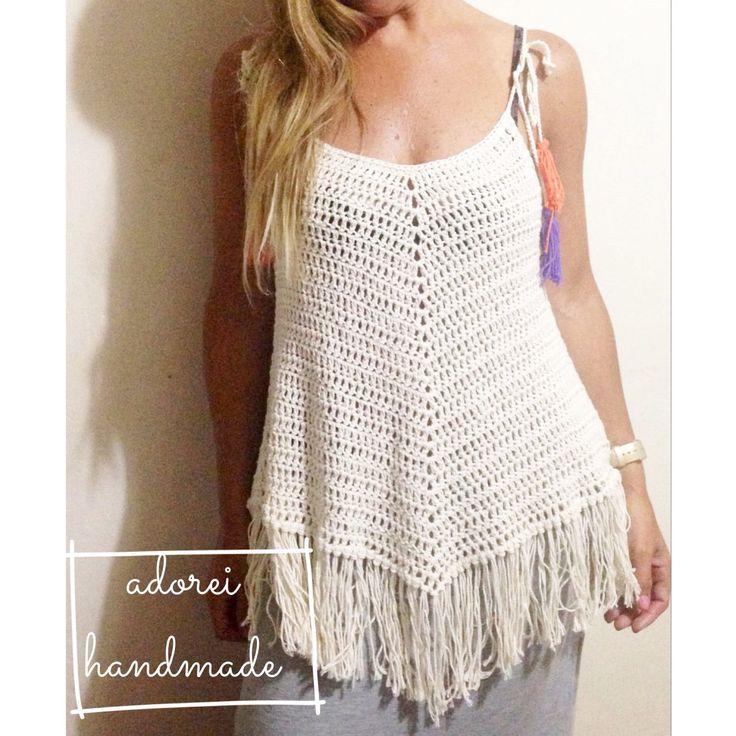 Musculosa Top Tejida Al Crochet - $ 600,00 en MercadoLibre