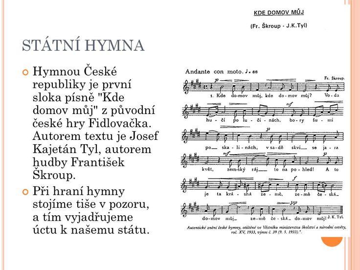 Výsledek obrázku pro státní hymna