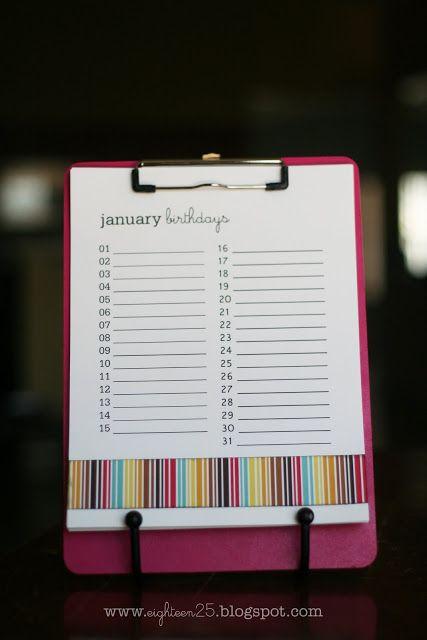 Calendar Zu : Die besten geburtstagskalender zum ausdrucken ideen