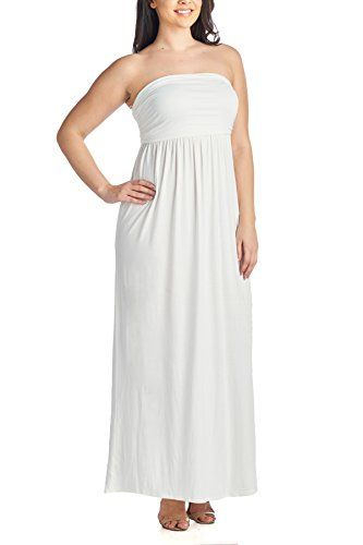 New Trending Formal Dresses: Beachcoco Womens Plus Size Comfortable Maxi Tube Dress (3XL (PLUS), White). Beachcoco Women's Plus Size Comfortable Maxi Tube Dress (3XL (PLUS), White)   Special Offer: $21.95      466 Reviews Comfortable tube top maxi dressStrapless elastic bodice and elastic waistSoft jersey materialPerfect vacation dress, and popular for cruises and beach getaways95%Rayon...