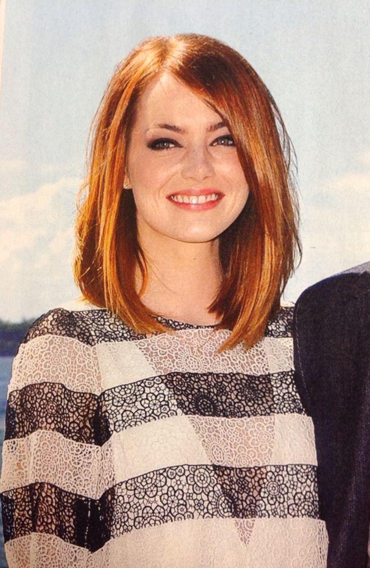 Emma stone shoulder length bob haircuts hairstyles medium lengths
