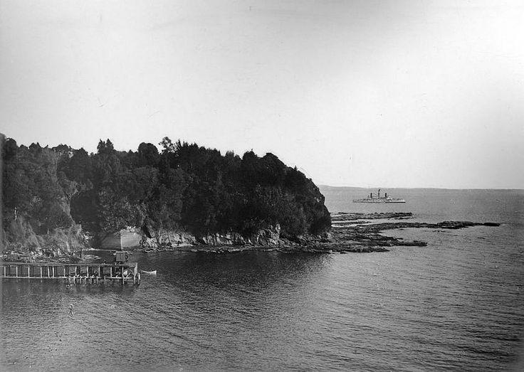 Puerto de Lota en el año 1902.