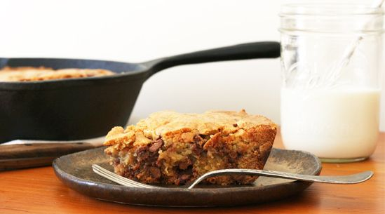 Skillet Chocolate-Chip Cookie   Recipes - PureWow