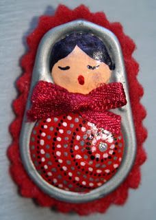 matryoshka dolls made from pull tabs | Arte com Latas on Pinterest | Pop Tabs, Pop Tab Bracelet and Beer Cans