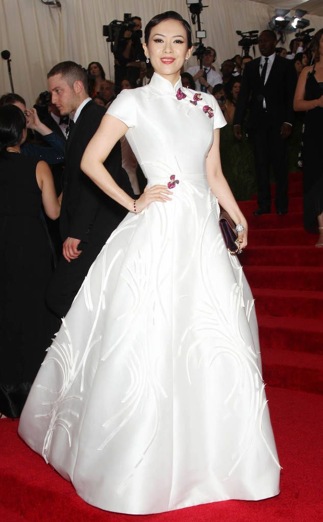 "2015 MET GALA: BEST DRESSED STARS  ZHANG ZIYI  At least one star nailed the theme! We'd like to think that when Anna Wintour approved the 2015 ""Chinese Whispers"" idea, this Carolina Herrera dress was what she had in mind."