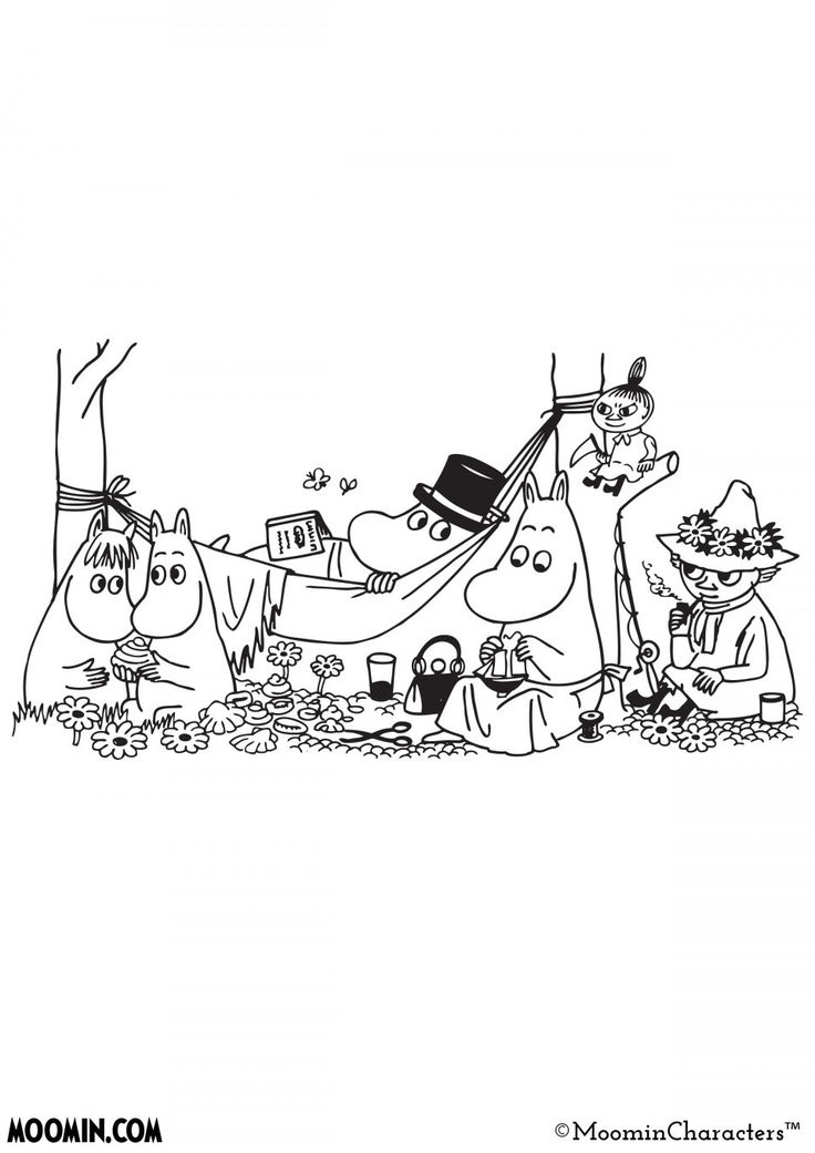 Moomin Inspiration coloring pages- Moomin