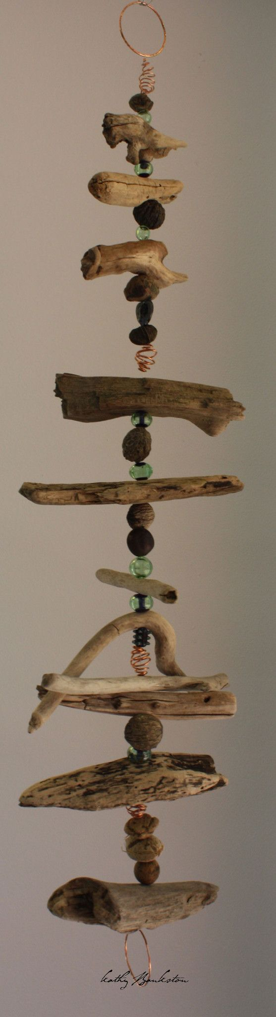 1549 best images about hanging on mobiles rain chains for How to make driftwood crafts