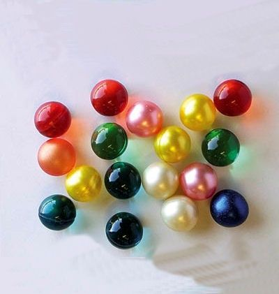 Bath oils - these squigy bath pearls containing perfumed oil dissolved and left an oily film on the bath!