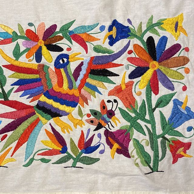 embroidery kit diy table mat embroidery kit embroidery pattern creative gift Otomi mexican embroidery kit Craft gift DIY gift