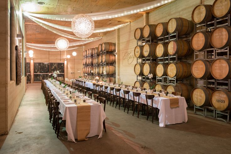 The Barrel Room at beautiful Margan Estate. This Hunter Valley wedding venue offers charm and elegance in a peaceful rural setting. The perfect vineyard wedding,