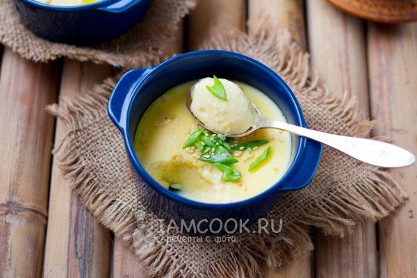 Китайский заварной яичный крем (на пару) — рецепт с фото