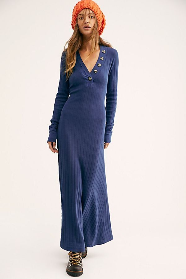 8040c7d985 Sunflower Maxi Dress - Navy Blue Ribbed Maxi Long Sleeve Dress - Navy Maxi  Dresses - Long Sleeve Maxi Dresses - Free People Maxi Dresses - Blue Maxi  Dresses