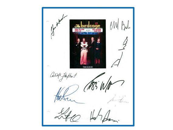 Robin Williams The Birdcage Movie Script Autographed Signed Nathan Lane, Gene Hackman, Dianne Wiest, Calista Flockhart, Hank Azaria, +more