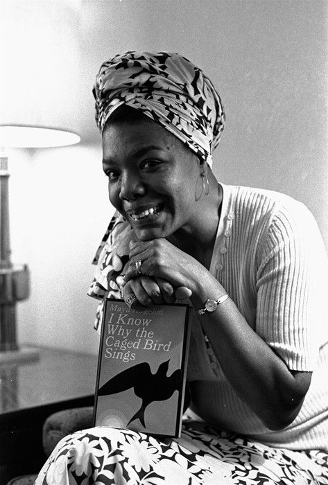 """""""A young Maya Angelou with a copy of I Know Why the Caged Bird Sings"""". May 31, 2014. Dazed.com"""