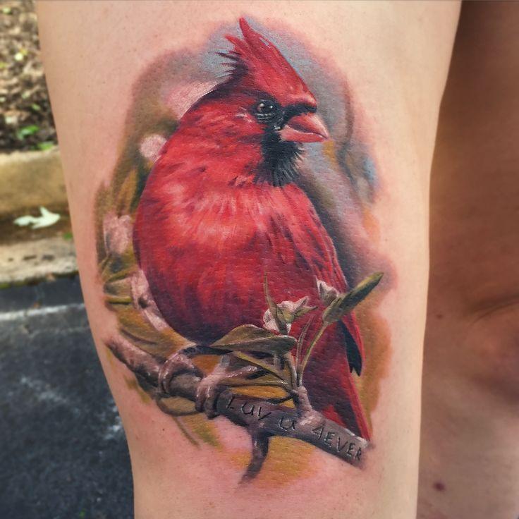 virginia cardinal dogwood butterfly tattoo - Google Search