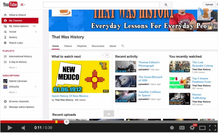 A Good YouTube Channel for History Teachers | Educational ...