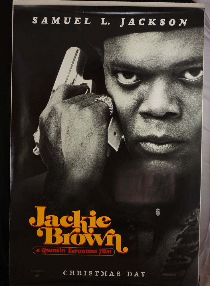 "Movie Poster    ""Jackie Brown""    Samuel L Jackson  Original Advance 1997 Movie Poster One-Sheet by MoviePostersAndMore on Etsy"
