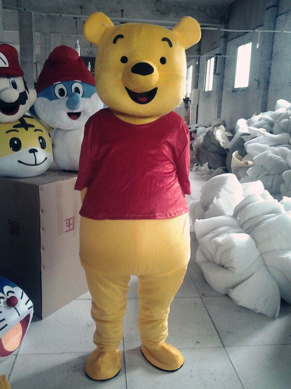 2019 Parade Adult Winnie The Pooh Bear Mascot Costume Dress Cosplay Party Suits