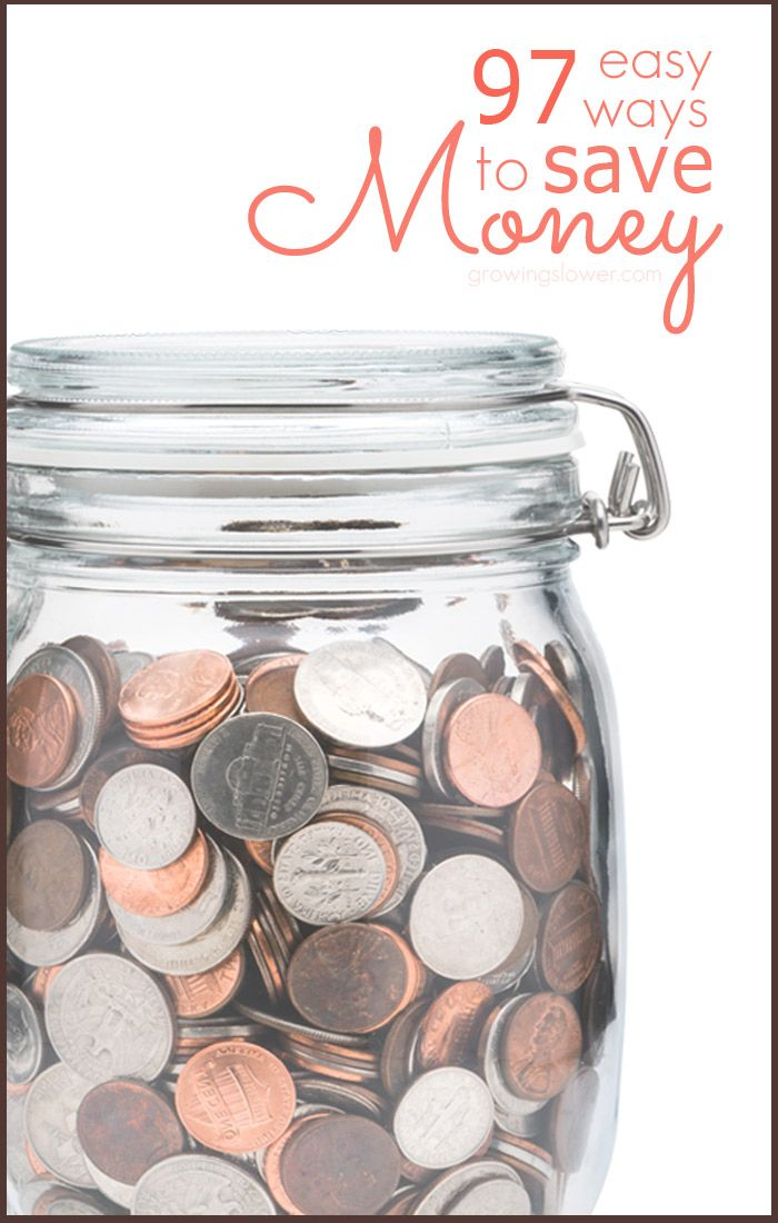 Find out how you can cut your budget right now with this huge list of 97 easy ways to save money!