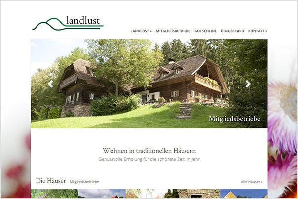 Websiterelaunch Angebotsgruppe Landlust www.landlust.at