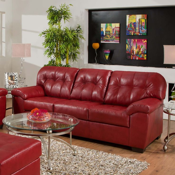 This Bold Red Couch Can Liven Up Any Living Room